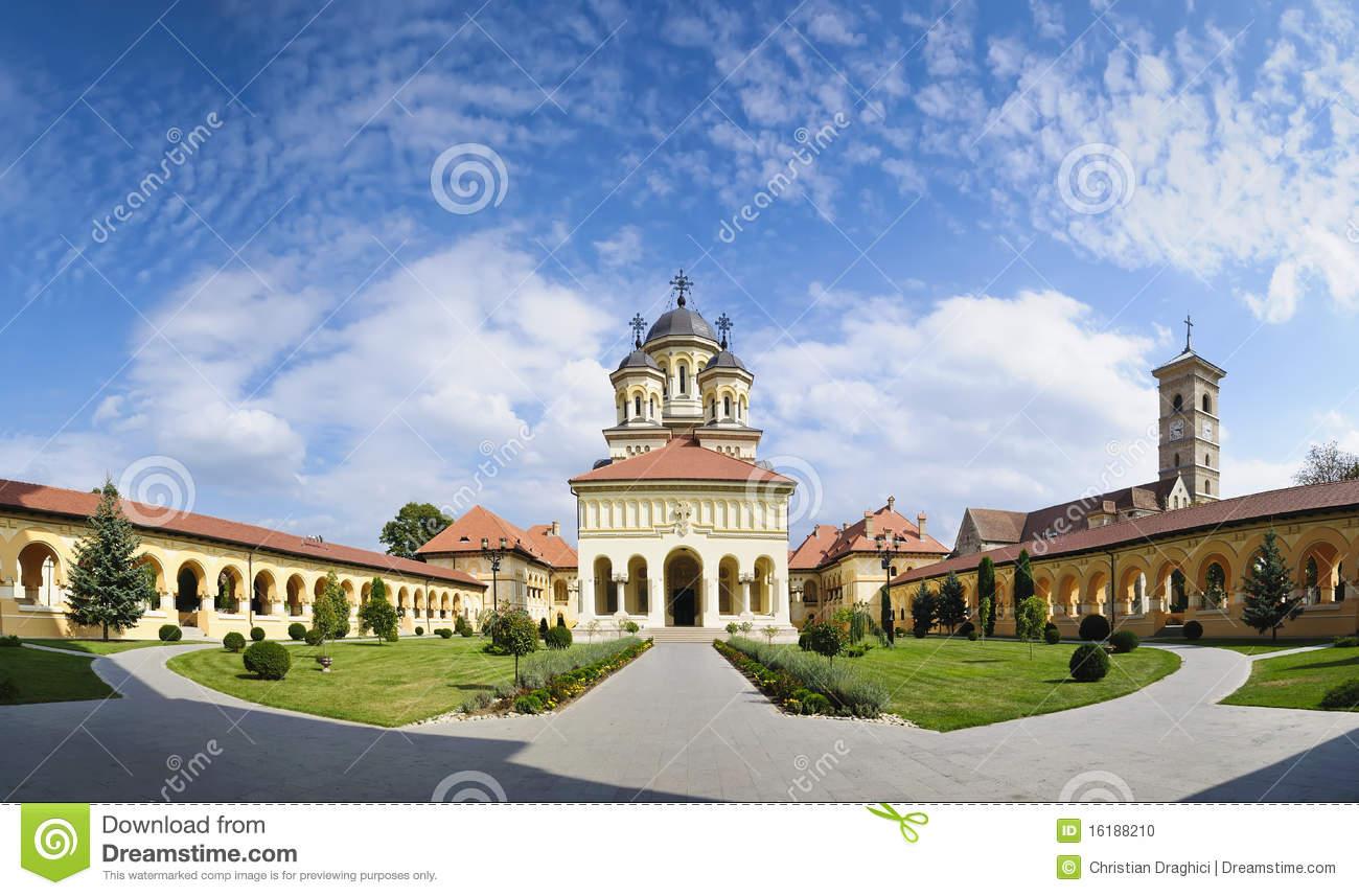 Orthodox Church In Alba Iulia, Transylvania Stock Photo.