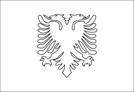 albania flag clipart.