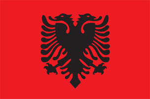 Free Animated Albania Flags.