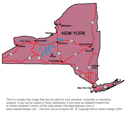 New york state map clipart.