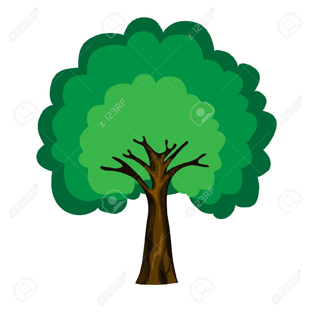 Deciduous trees clipart clipground