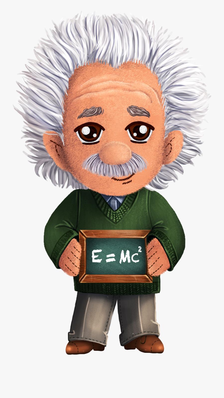 Einstein Cartoon Png Albert Einstein Transparent Png , Free.