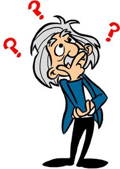 Einstein Thinking Clipart.
