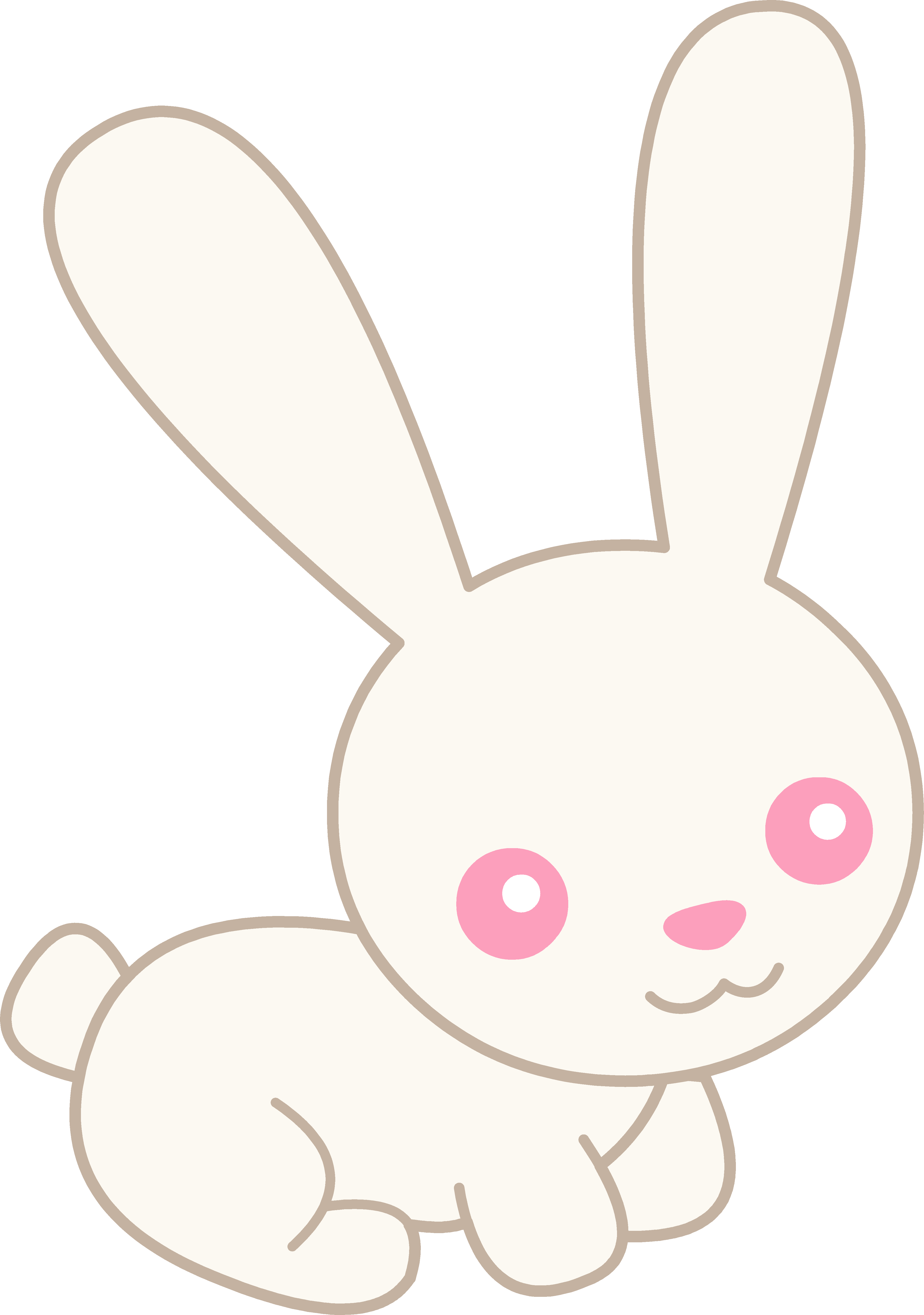 Cute White Albino Bunny.