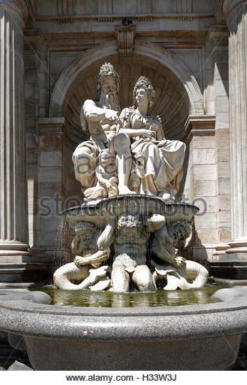 Stone Fountain Vienna Stock Photos & Stone Fountain Vienna Stock.