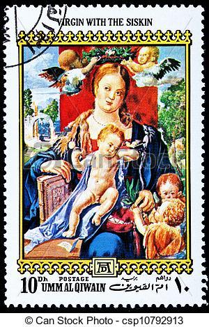 Clipart of Virgin Mary Baby Jesus Christ Albrecht Durer.