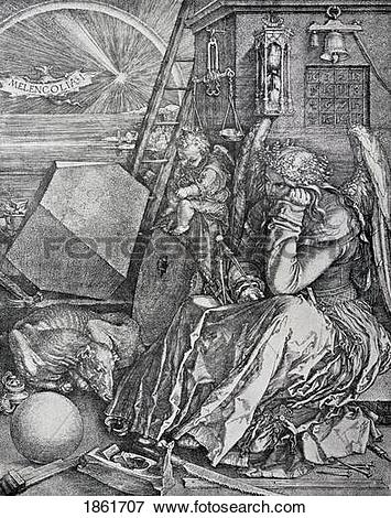 Picture of Melancholy Engraved By Albrecht Durer From The Book The.