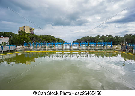 Stock Images of Dam in Albufera, Valencia.