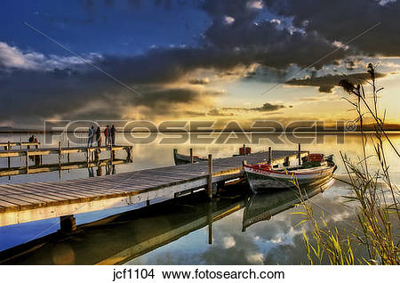 Stock Photo of Spain. Valencia. La Albufera Lake after the rain.