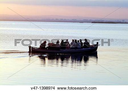 Stock Photo of Boating, Natural Park L?Albufera, Dehesa del Saler.