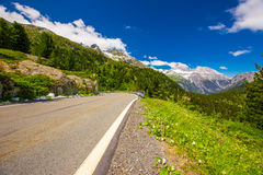 Albula Pass Stock Photo.