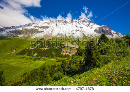 Graubunden Region Stock Photos, Royalty.