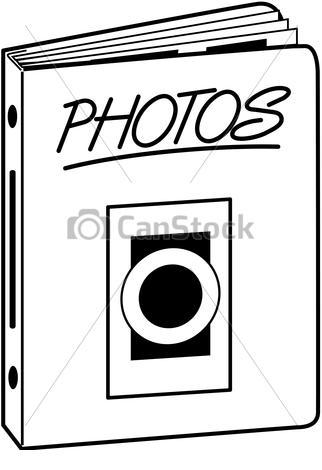 Photo album clip art.