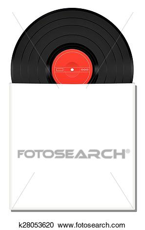 Record Blank Album Cover Envelope Clipart.
