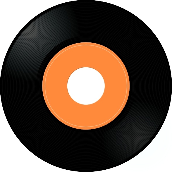 Record Album clip art Free vector in Open office drawing svg ( .svg.