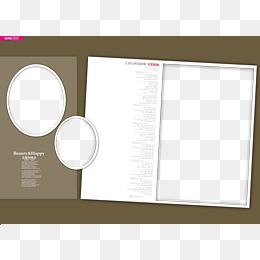 Wedding Album Template PNG Images.
