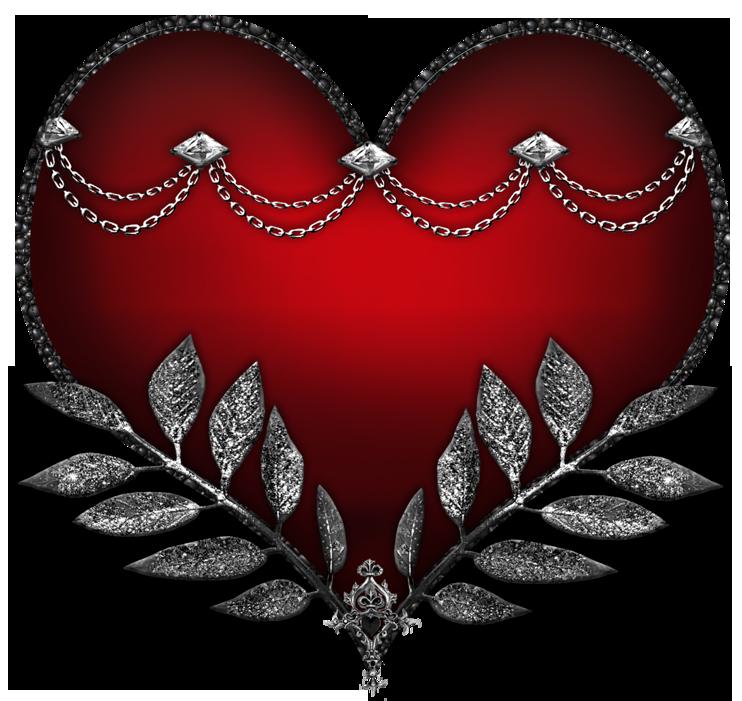 Hard Rock Style Heart Clipart.