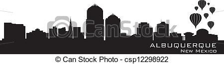 Vector Illustration of Albuquerque, New Mexico skyline. Detailed.