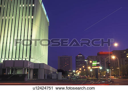 Stock Photography of Albuquerque, NM, New Mexico, downtown.