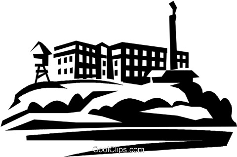 Alcatraz Royalty Free Vector Clip Art illustration.