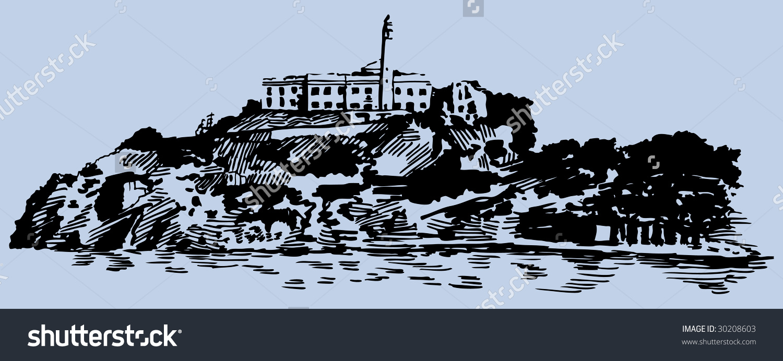 Alcatraz Island Stock Illustration 30208603.