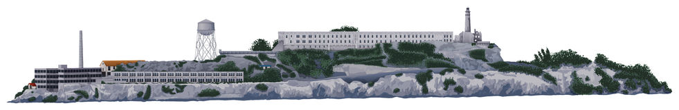 Alcatraz Stock Illustrations.