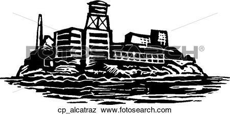Clip Art of alcatraz cp_alcatraz.