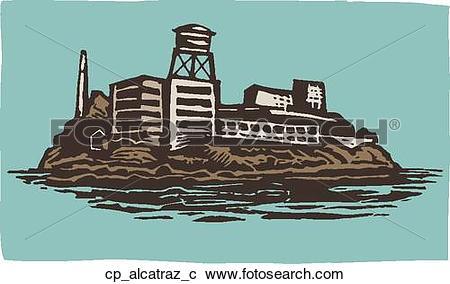 Alcatraz prison clipart #4