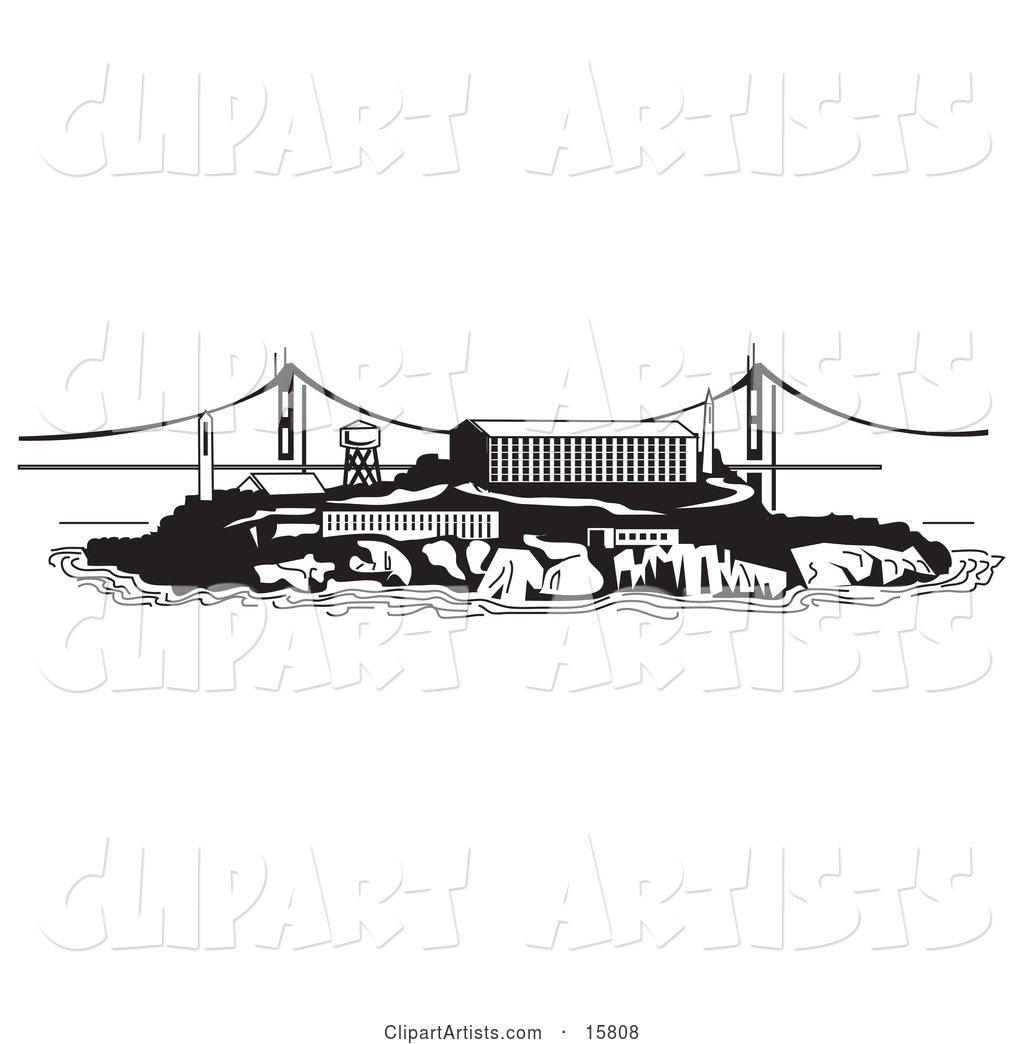 the Prison on Alcatraz Island Clipart by Andy Nortnik (anortnik).