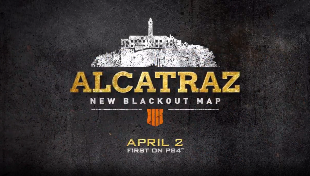 New Alcatraz Map for Blackout coming April 2 on PS4.