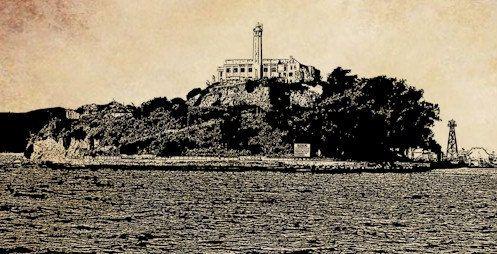 alcatraz island prison jail clip art png by DigitalGraphicsShop.