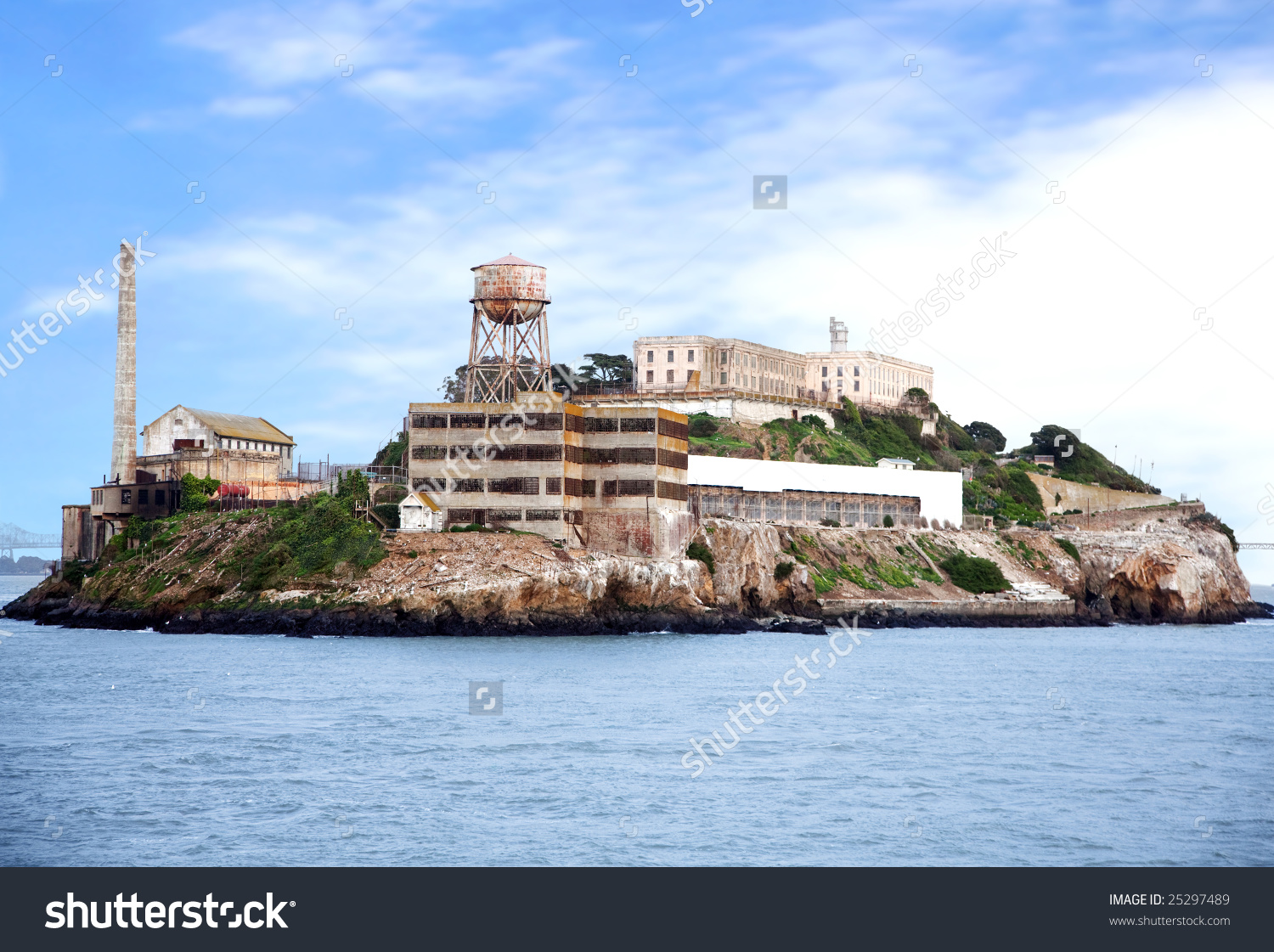 Alcatraz Island Famous Prison San Francisco Stock Photo 25297489.