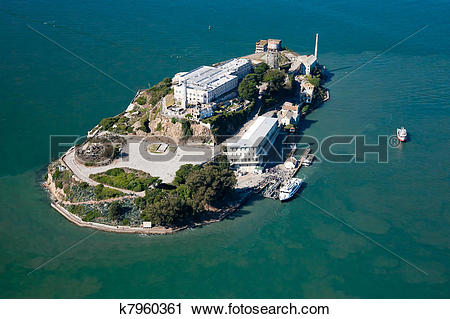 Stock Photography of Alcatraz jail in San Francisco k7960361.