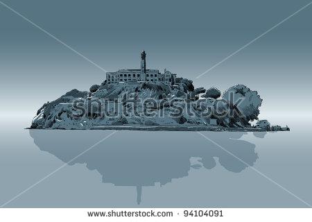 An Illustration Of Alcatraz Prison..