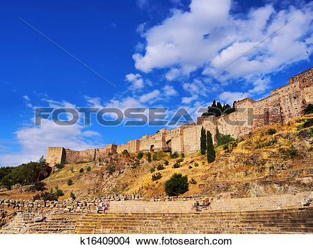 Stock Photo of Alcazaba in Malaga, Spain k16409004.
