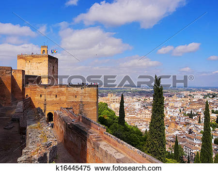 Stock Image of Alcazaba in Granada, Spain k16445475.