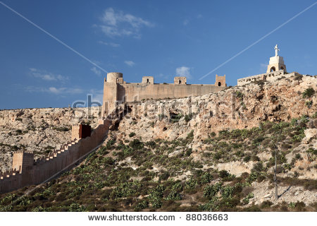 Alcazaba De Almeria Stock Photos, Royalty.