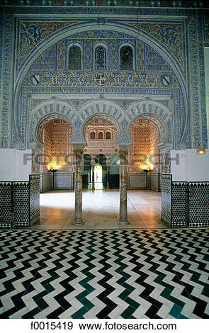 Stock Photograph of Spain, Andalusia, Seville, Real Alcazar, the.