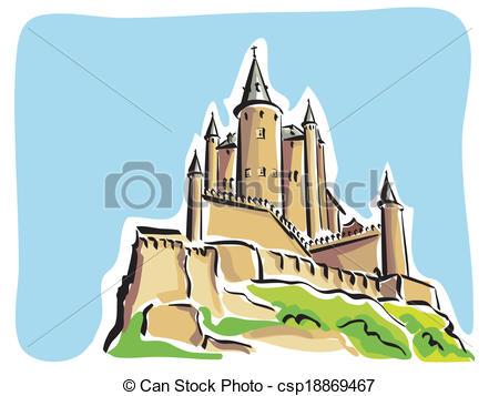Clip Art Vector of Segovia (Alcazar).