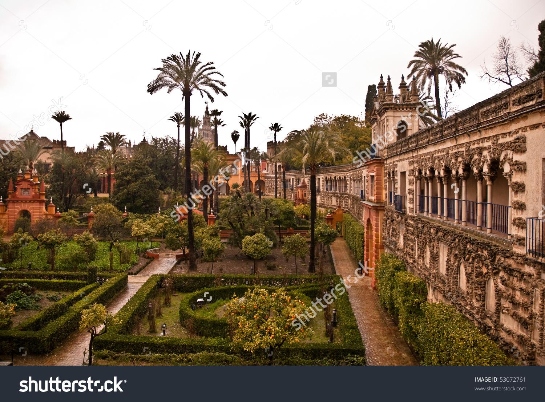 Gardens Alcazar Seville Spain Stock Photo 53072761.