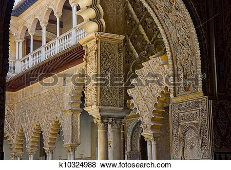 Pictures of Alcazar of Seville, Spain k10324988.