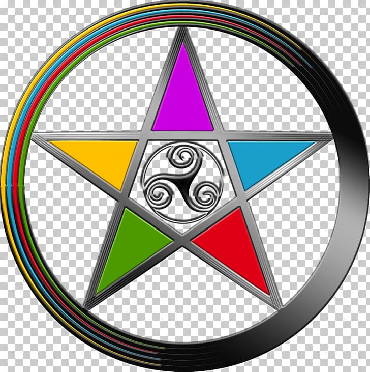 Symbol Pentacle Pentagram Wicca, elemental PNG clipart.