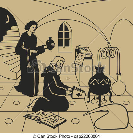 Clip Art Vector of Alchemy.