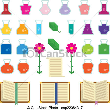 Vector Clip Art of Alchemy Icons.