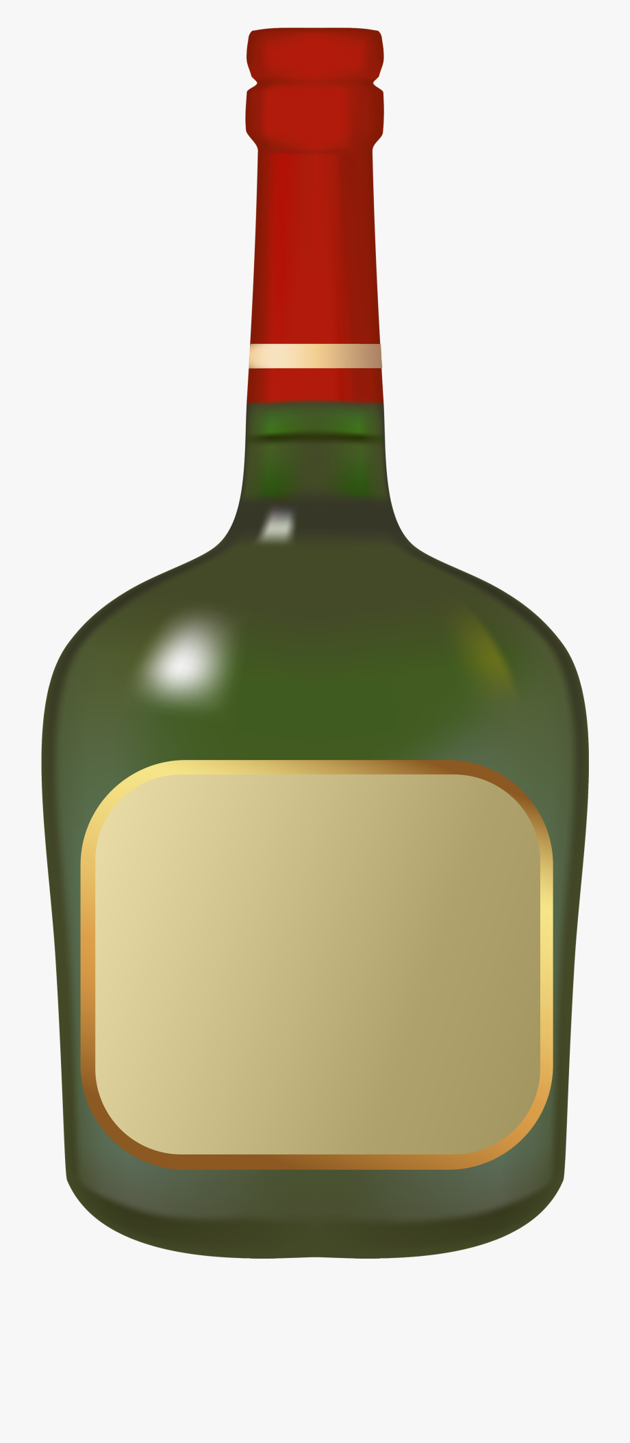 Simple Liquor Bottle Png Clipart.