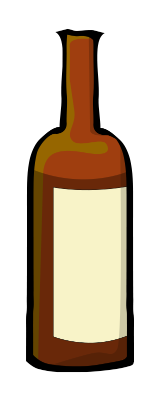 Free Clipart: Wine bottle.