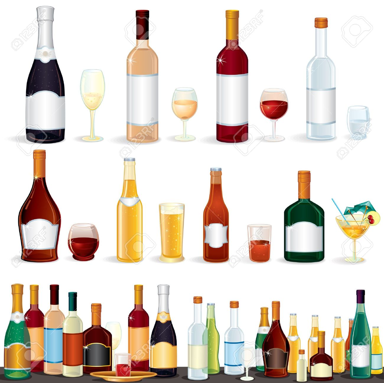 Free alcohol clipart images.