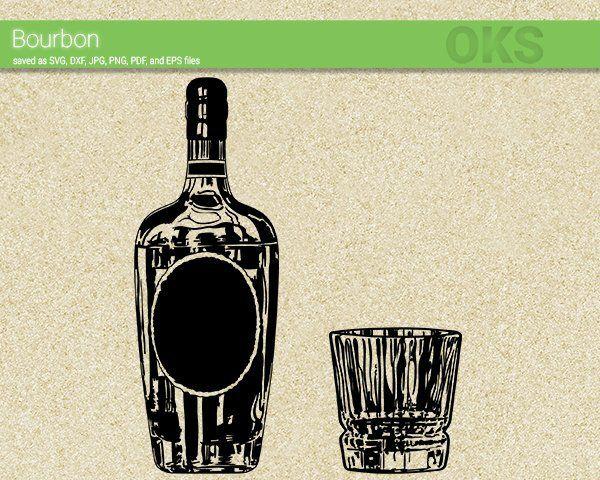 Bourbon svg download, glass clipart, alcohol vector, drink.