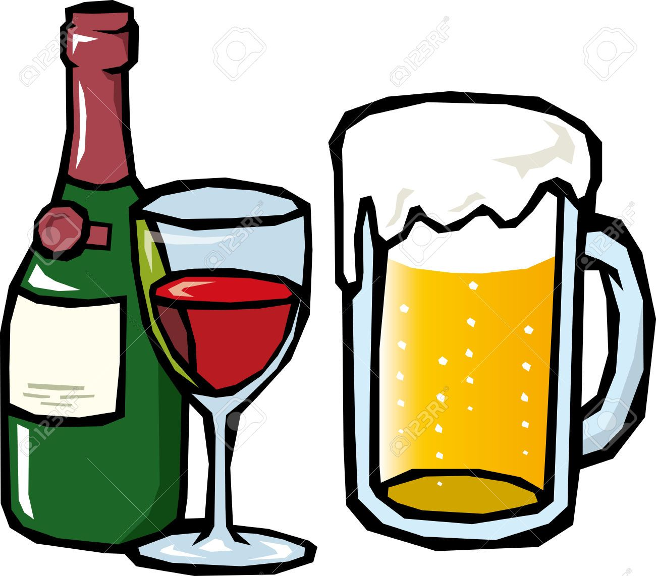 Beer clip art black and white free clipart images 3.
