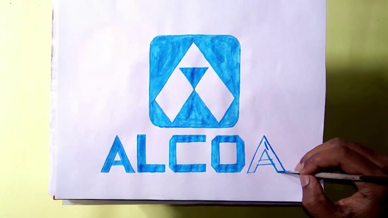 How to draw the Alcoa logo.